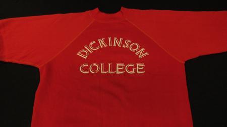 Red Dickinson College Sweatshirt, c.1976