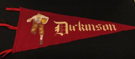 Maroon Dickinson Football Pennant, c.1915