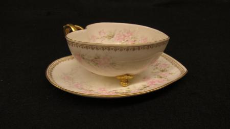 Heart-shaped Teacup and Saucer, c.1890