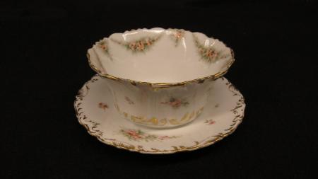 White Bowl and Saucer, c.1890