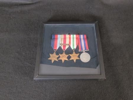 Certificate and World War II Medals, 1945