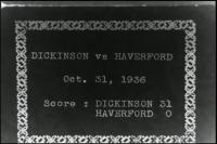 Football Game vs. Haverford College, 1936
