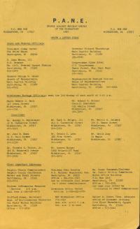 PANE Newsletters, 1979