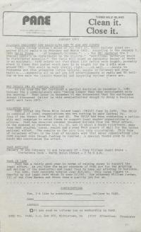 PANE Newsletters, 1983
