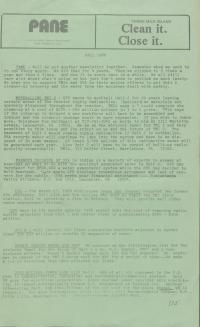 PANE Newsletter (Fall 1988)