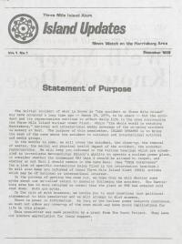 Three Mile Island Alert: Island Updates (Dec. 1979)
