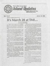 Three Mile Island Alert: Island Updates, 1980