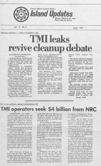 Three Mile Island Alert: Island Updates, 1981