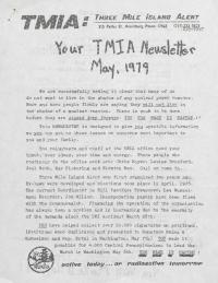 Three Mile Island Alert Newsletters, 1979