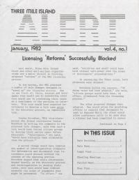 Three Mile Island Alert Newsletters, 1982