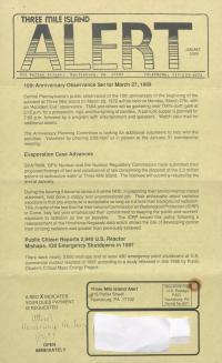 Three Mile Island Alert Newsletters, 1989