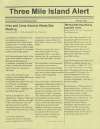 Three Mile Island Alert Newsletters, 1997