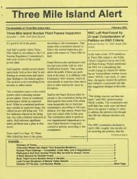 Three Mile Island Alert Newsletters, 2001