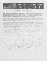 Three Mile Island Alert Newsletters (Dec. 2010)