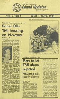 Three Mile Island Alert: Island Updates (Mar. - Sep. 1988)