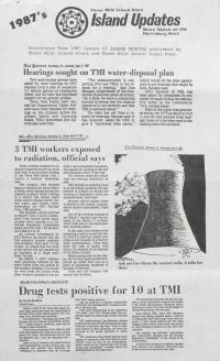 Three Mile Island Alert: Island Updates, 1987