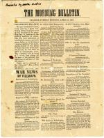 Carlisle Morning Bulletin - April 16, 1861