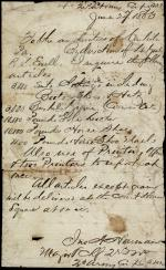 """Confederate Supply Requisition to """"Authorities of Carlisle"""""""