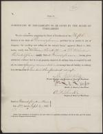 Certificate of Exemption from the Draft for William Trickett