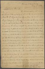 Letter from Richard Beale to William Smith