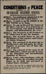 "Broadside of ""Conditions of Peace Required of the So-Called Seceded States"""