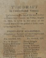 """Broadside and Newspaper Clippings of """"The Draft in Cumberland County"""""""