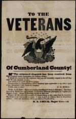 """Broadside of """"To the Veterans of Cumberland County!"""""""