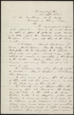 Letter from Herman Johnson to Andrew Curtin