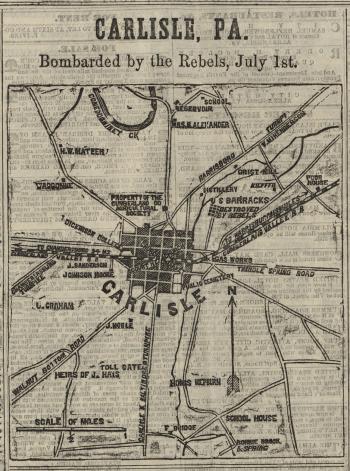 Carlisle Pa Map Map of