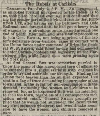 "Philadelphia Inquirer, ""The Rebels at Carlisle"""