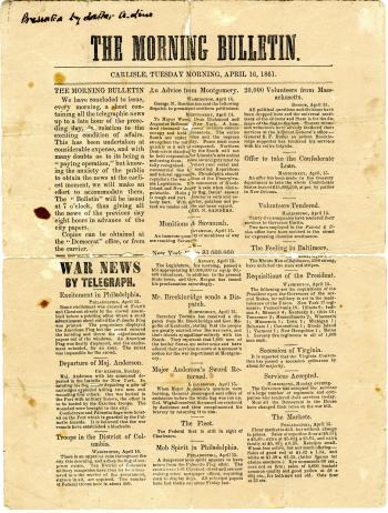 Carlisle Morning Bulletin - April 16, 1861