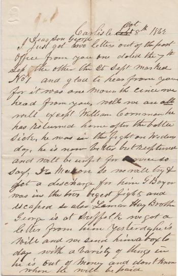 Letter from Jacob Bretz to George Bretz
