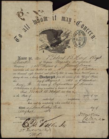 Robert Hays Discharge Certificate