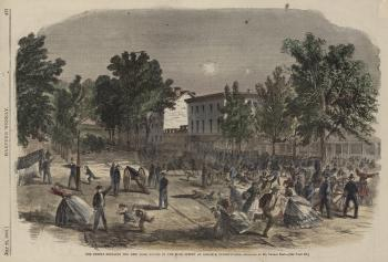 "Harper's Weekly, ""The Rebels Shelling... Carlisle, Pennsylvania,"" #1"
