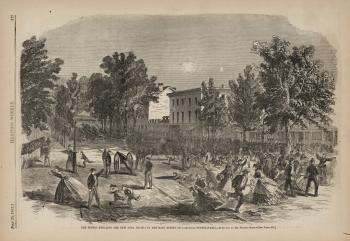"Harper's Weekly, ""The Rebels Shelling... Carlisle, Pennsylvania,"" #2"
