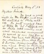 Letter from Richard Henry Pratt to Cornelius Rea Agnew