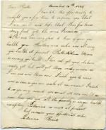 Letter, 1825 (Box 1, folder 7)