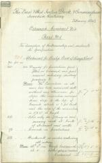 Contract estimate, 1849 (Box 2, folder 6)