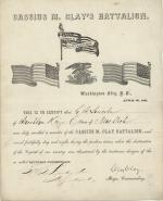 Certificate, 1861 (Box 1, folder 24)