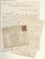 Letters, 1887, 1889 (Box 1, folder 4)