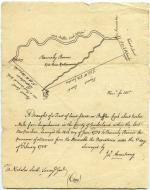 Survey map, June 1755 (Box 1, folder 10)