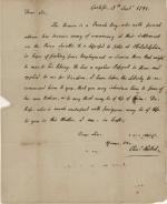 Letter, 1791 (Box 1, folder 4)