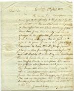 Letter, 1800 (Box 1, folder 6)