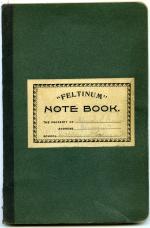 German notebook, undated (Box 1, folder 4)