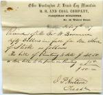 Stock receipt, 1857 (Box 1, folder 4)
