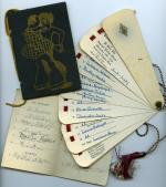 Dance cards, 1928 (Box 1, folder 1)