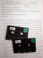 Transcript & tapes, 1979 (Box 1, folder 12; box 4, tapes 29 & 30)