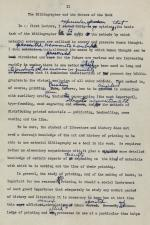 """The Uses of Bibliography, Lecture II: """"The Bibliographer and the Makers of the Book"""" (typescript), 1953"""