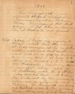 Page from Myrl Myers papers