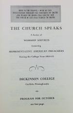 The Church Speaks program, October 1954